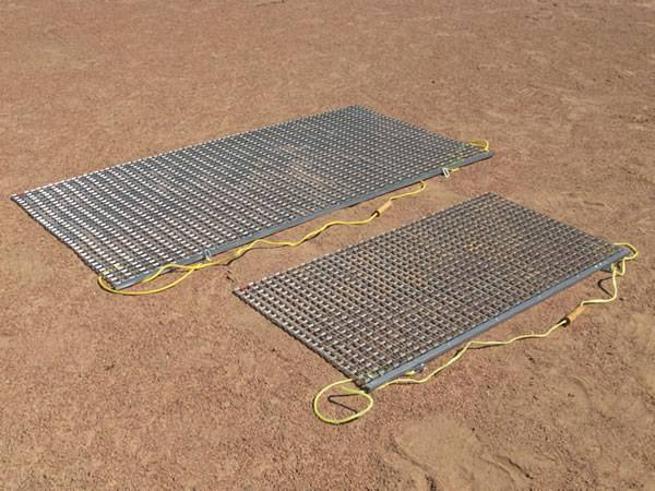 Two most popular sizes of flexible standard drag mat